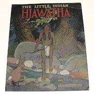 The Little Indian Hiawatha Linen Book 1916