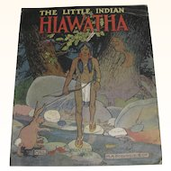 The Little Indian Hiawatha Linen Book 1916