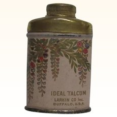 Larkin Co. Ideal Talcum Sample Tin