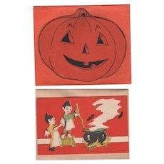 JOL Pumpkin and Goblin Kids Party Invitations and Envelopes