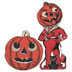 Halloween Johnny Pumpkin Head and JOL