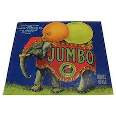Crate Label Jumbo the Elephant