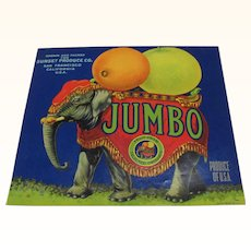 Crate Label Jumbo the Elephant