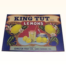 Crate Label King Tut Lemon