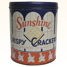 Sunshine Krispy Cracker Round Tin
