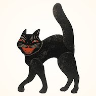 Halloween  Large Jointed Cat Red Eyes Mouth