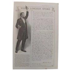 1917 When Lincoln Spoke The Gettysburg Address