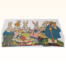 Six Peter Rabbit Family and McGregor Cut-out Standups