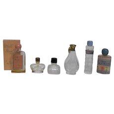 Six Miniature Perfume Bottles