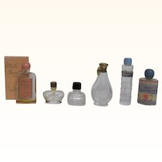 Six Miniature Perfume Bottles
