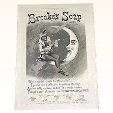 1891 Brook's Monkey Brand Soap Advertisement