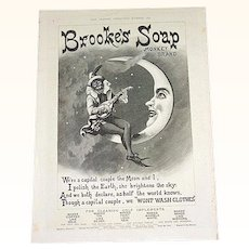1891 Brook's Monkey Brand Soap Advertisement