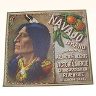 Crate Label Navajo Brand Citrus