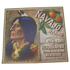 Crate Label Navajo Brand Citrus