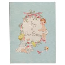 1939 Story of Our Baby Board Cover Book
