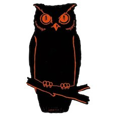 Halloween Dennison Owl Cut Out Decoration