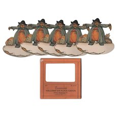 Halloween Dennison Scarecrow Place Cards in Box