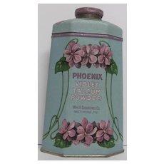 Phoenix Violet Talc Powder Tin