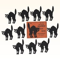 Halloween Dennison Cat Cut-Outs in Package