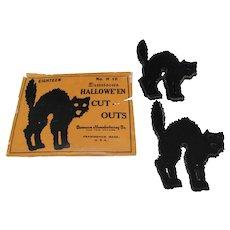 Pkg 16 Halloween Cat Cutouts by Dennison