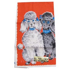 Poodles Parisian Prints Kitchen Towel