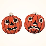 Pair Halloween JOL Face Cutouts