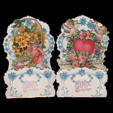 Pair Valentines Foldout Germany Cupids