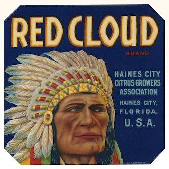 Citrus Label Red Cloud Haines City FL