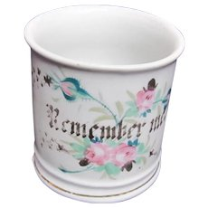 Remember Me Cup With Roses Gold Design