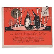 Russcraft Halloween Card Witches