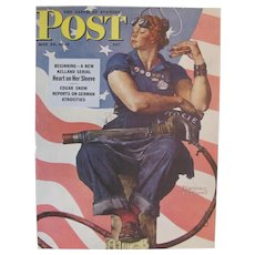 Sat Eve Post May 29, 1943 Rosie The Riveter Norman Rockwell