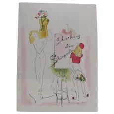 1944 Shocking de Shiaparelli Perfume Ad by Verte'