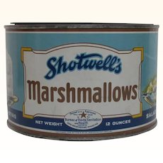 Advertising Tin Shotwells Marshmallows