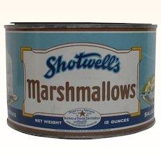 Advertising Tin Shotwells Marshmallows