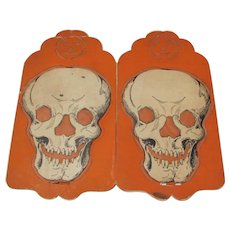 Halloween Beistle Four Sided Skull Lantern