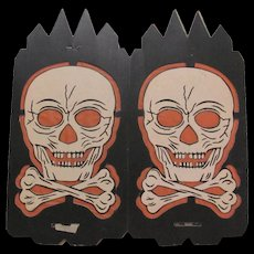 Halloween 4 Sided Skull and Crossbones Lantern