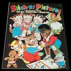 1941 Sticker Pictures Book Little Black Sambo