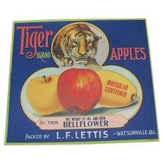 Crate Label Tiger Brand Apples