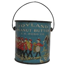 Toyland Peanut Butter Pail E.K. Pond Chicago Great Graphics