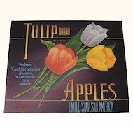 Apple Crate Label Tulip Brand Yakima, WA