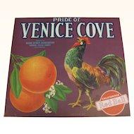 Crate Label Venice Cove Oranges