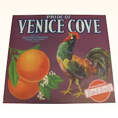 Crate Label Venice Cove Oranges