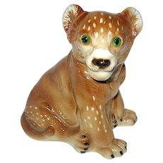 German 30's Figural Baby lion Cub Perfume Lamp - Nightlight - EXCELLENT