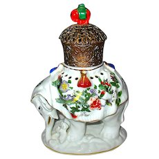 Antique German Figural Elephant Perfume Lamp