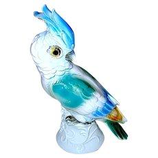 Beautiful German Figural Cockatoo Perfume Lamp - WORKS - Moving Sale Price
