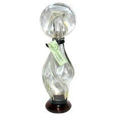 """""""Divine"""" Vintage 6 1/2"""" Perfume Bottle w Original Contents & Hang Tag"""