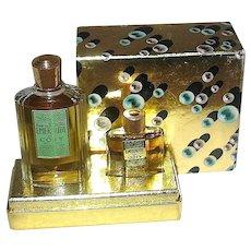 """Vintage Unused Coty """"Emeraude"""" MIB Set — Full Mini Perfume & EDT - Excellent"""