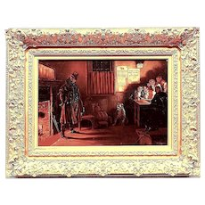 1885 English Pub Oil Painting  - Infamous Robber - Appeals to 19th C. Western Tavern Collectors