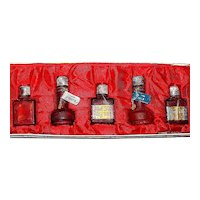 Extremely Rare Boxed Judith Mueller Set of Five Miniature Perfume Bottles -EXCELLENT