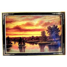 Albert Lorrey Groll  19th C. Illuminated Oil Painting OIL - Along the Atlantic - MOVING SALE PRICE